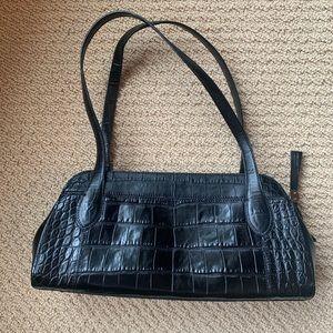 BRAND NEW Monsac Black Croc Leather Purse